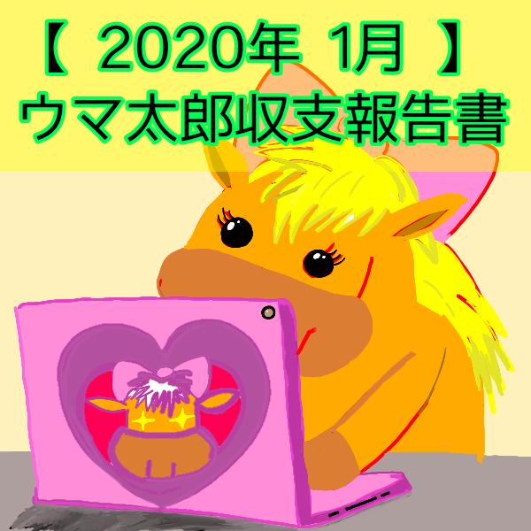 2020年1月ウマ太郎収支報告