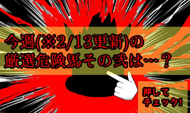 2/13更新 今週の厳選危険馬(その弐)