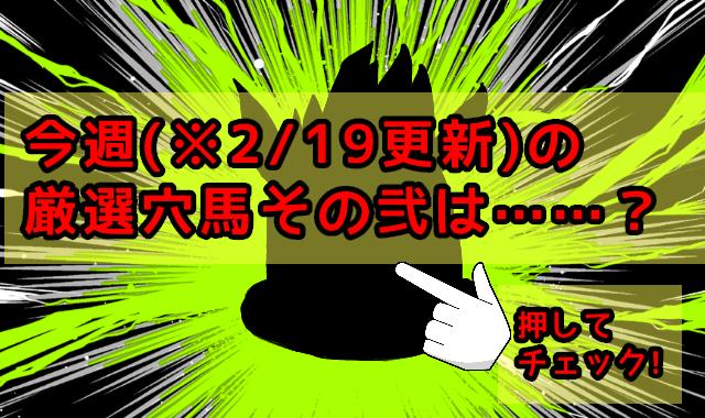 ※2/19更新 今週の厳選穴馬(その弐)