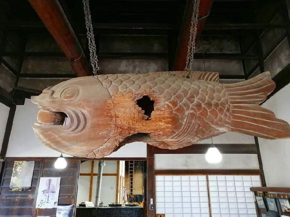 興聖寺の魚板