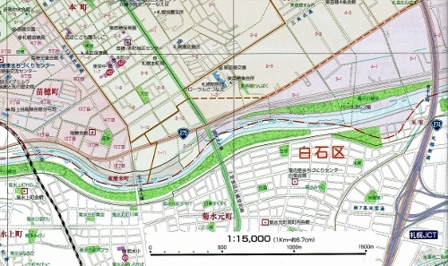 東区ガイド2019年 地図 豊平川
