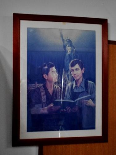 札幌村郷土記念館 複製画 二宮金次郎とリンーカーン