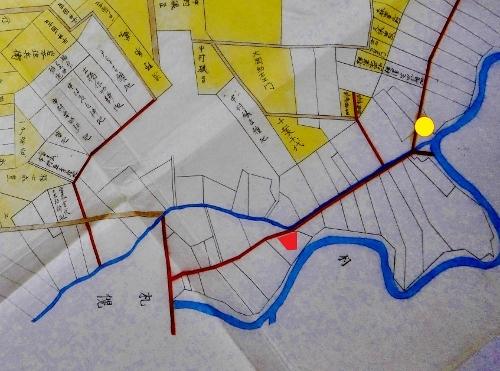 明治15年札幌郡丘珠村札幌村全図 街道、大友堀周辺