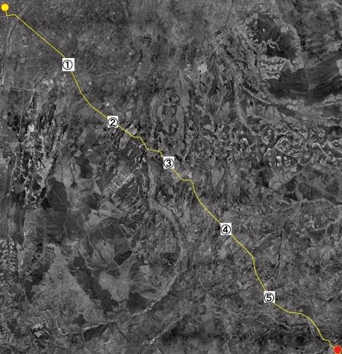 空中写真 1960年代 旧国道36号 札幌本道 里程