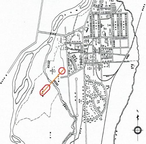 真駒内 米軍キャンプクロフォード 配置図