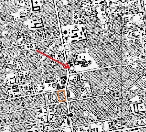 地形図 昭和52年「札幌」 東区役所付近
