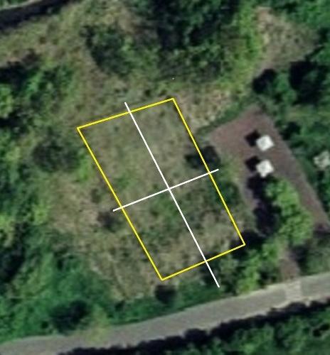 空中写真 2008年 手稲山口バッタ塚 畝の向き