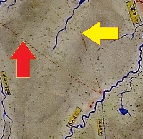 札幌郡西部図 銭函、茨戸運河計画線? 南端部