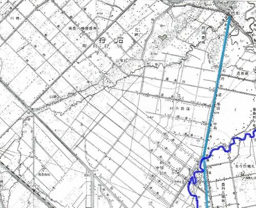 大正5年地形図 創成川流路 新琴似 篠路