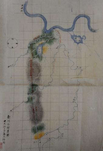 「新川分間略図」1872(明治5)年 全体