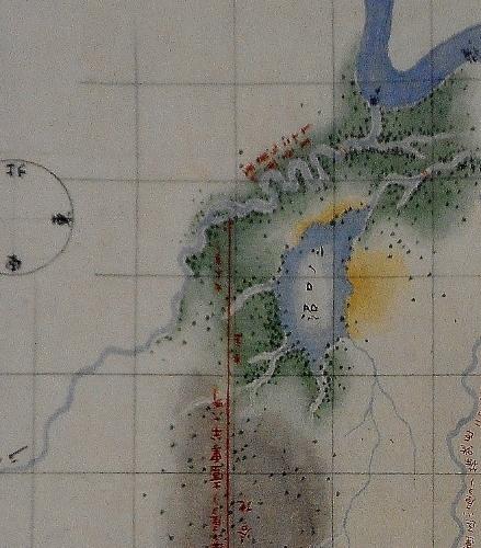 新川分間略図」 赤い実線の北端部