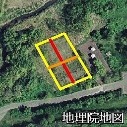 空中写真 2008年 手稲山口バッタ塚 畝の向き 再掲