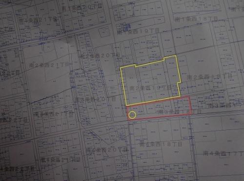 札幌市地番図 2018年 南3条西18丁目あたり