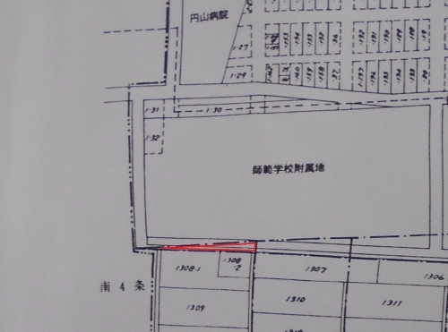 札幌市戸籍住民課 古い地番図 南3条西18丁目あたり