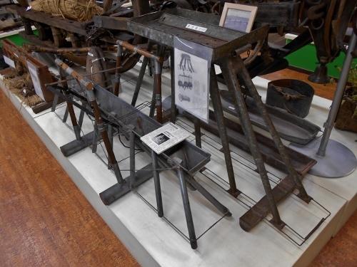 つきさっぷ郷土資料館 1階 農機具の展示