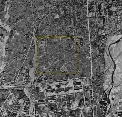 空中写真 1947年米軍 東武南宇都宮駅周辺
