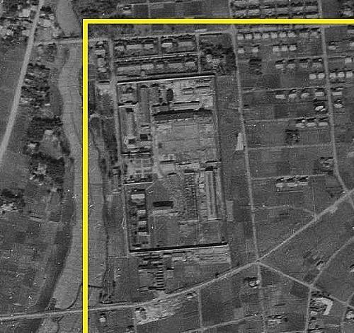 空中写真 1947年米軍 のちに宇都宮市文化会館ができた一帯