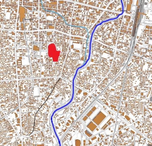 現在図 宇都宮市 旧鎌倉街道