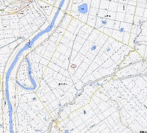 地理院位置図 三角点「怪物路」あたり