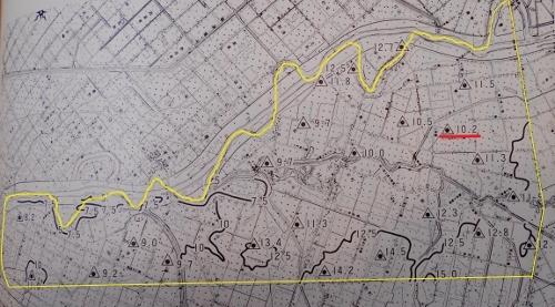 北村史(上)p.816 北村等高線・三角点図