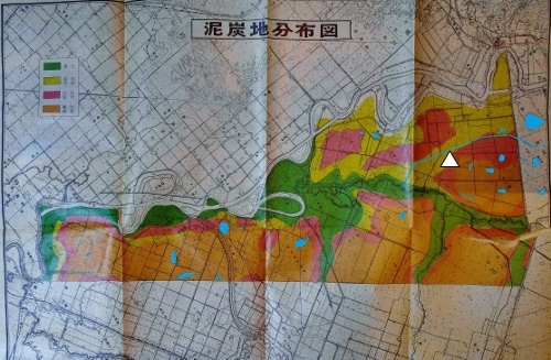 北村村史 泥炭地分布図