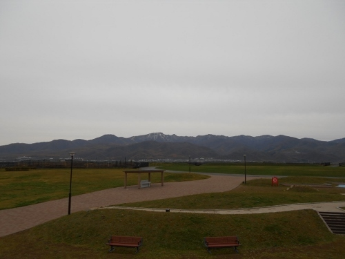 手稲山稜線 山口緑地から遠望
