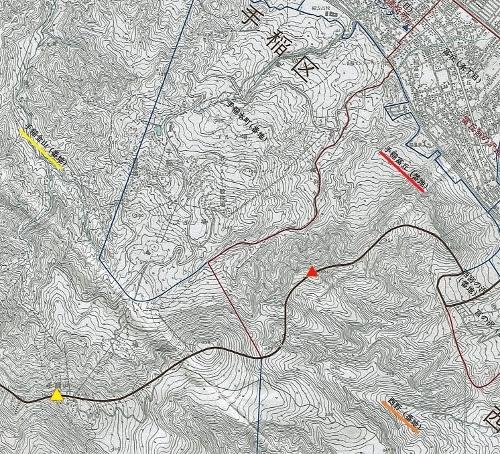 札幌市区域図 1989年 西区・手稲区境界あたり