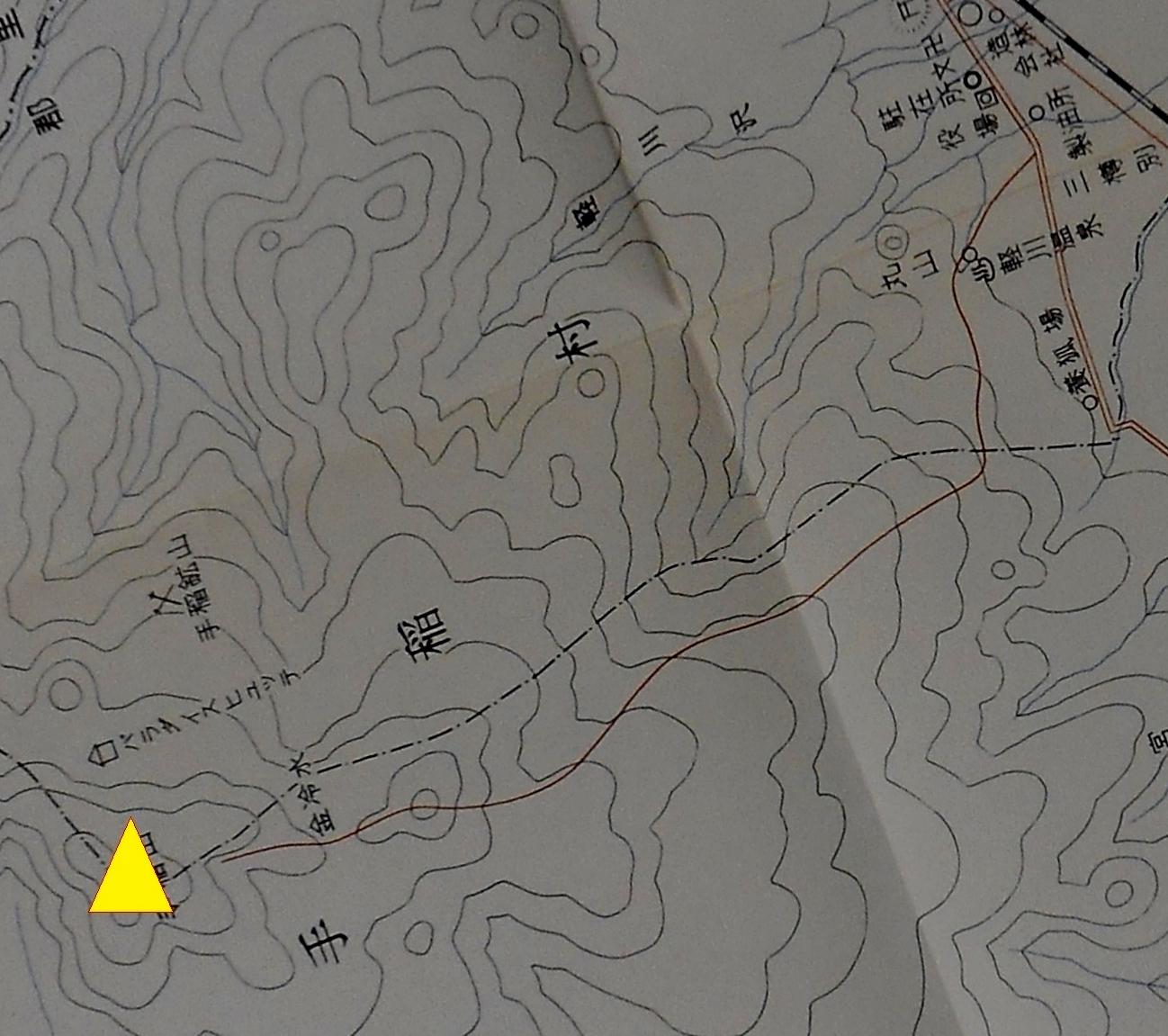 札幌郡手稲村(大字三村時代)地図 上手稲村・下手稲村村界 再掲