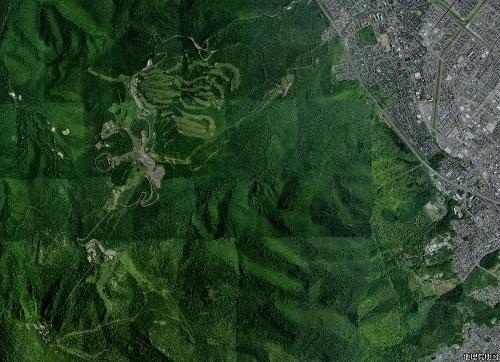 空中写真 手稲区手稲富丘 2008年