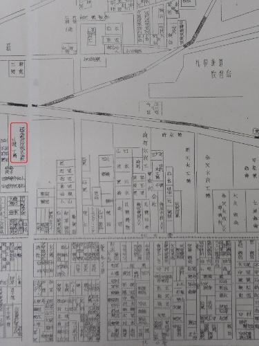 札幌全市案内 昭和32年 伊藤組木材㈱周辺