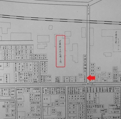 札幌市全戸別明細図 昭和40年 伊藤組木材周辺