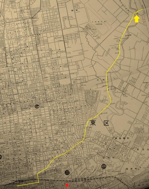 昭文社エアリアマップ札幌市1973年 東区中沼方面
