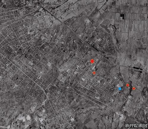 空中写真1961年 白石本通周辺