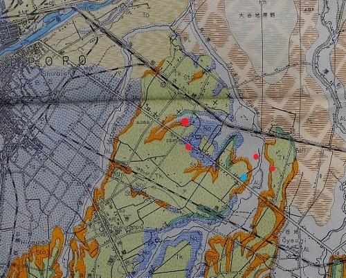北海道地下資源調査所 地質図幅 白石本通周辺