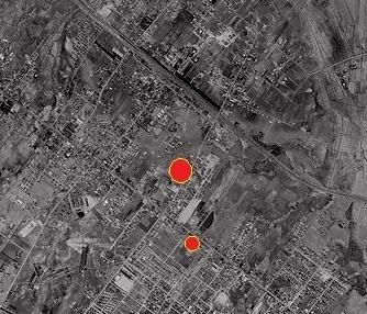 空中写真1961年 白石本通周辺 拡大