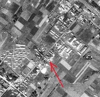空中写真 1947年 白崎繊維工業付近