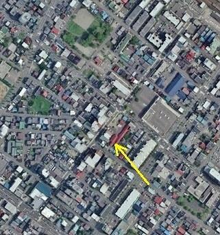 空中写真2008年 白崎繊維工業付近