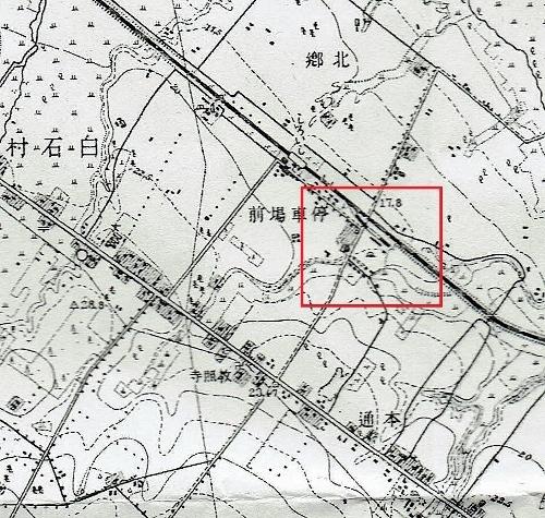 大正5年測図地形図 白石駅周辺