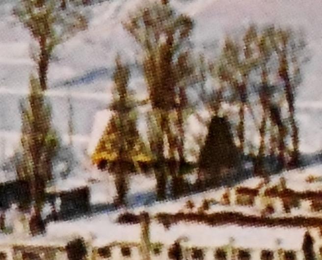 オリンピック写真集 選手村俯瞰写真 オーストリア館? トリミング
