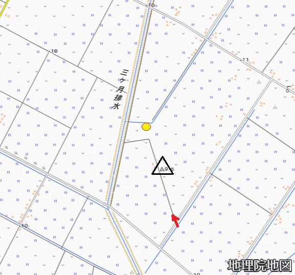地理院地図 北村豊正 三角点「怪物路」