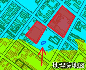 色別標高図 白石本通5丁目 お庭の池周辺 拡大