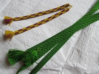 BB手稲店で買った羽織紐と帯締