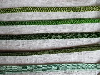 緑系単色帯締めーず