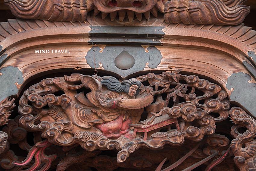 日置天神社 だんじり 彫刻 巻物
