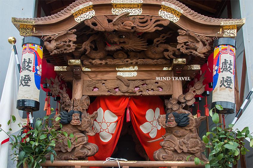 日置天神社 だんじり 彫刻 菊