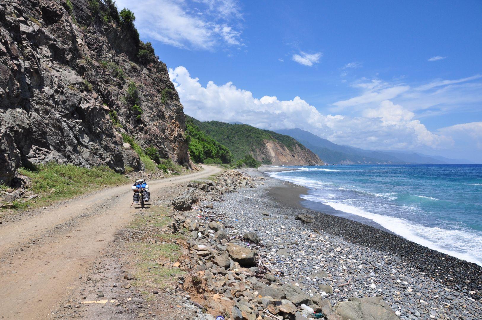 ruta en la costa de santiago