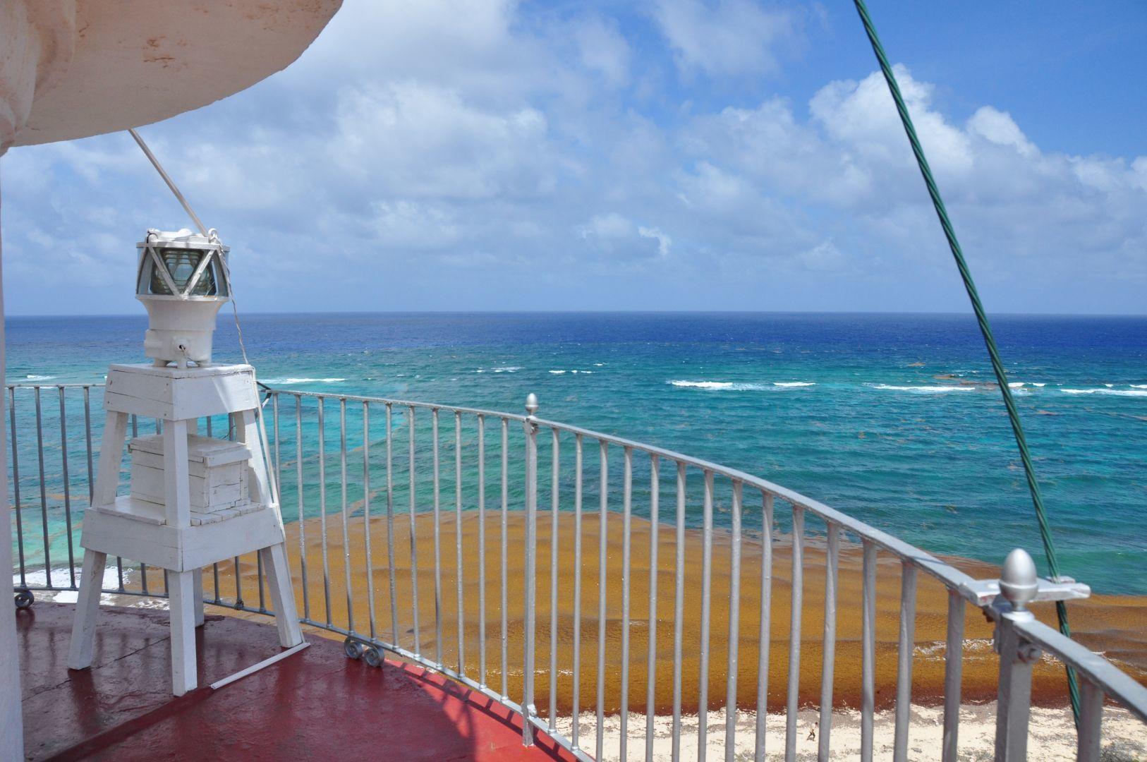 vista de la mar hacia Haiti