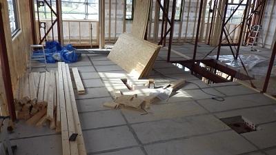 ⑨内部工事2F床ALC板設置