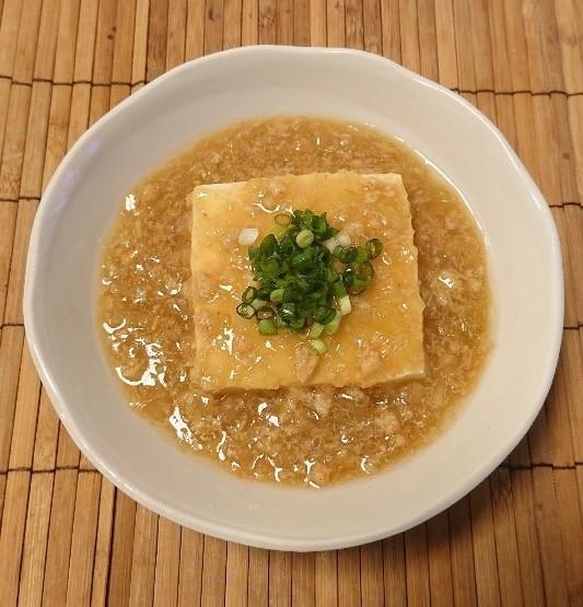 お豆腐のカニあんかけ6