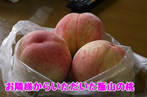 お隣様からいただいた飯山の桃